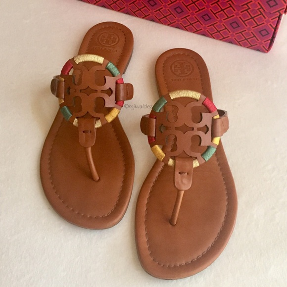 06bf6b79a0eb43 Tory Burch Embroidered Miller Sandals. M 5b7ecf571070eeaf06bf730a